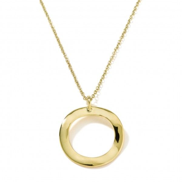Ippolita glamazon 18k gold wavy circle pendant necklace necklace ippolita glamazon 18k gold wavy circle pendant necklace necklace 16 18 aloadofball Image collections