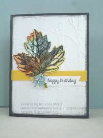 Did You Stamp Today?: Autumn Maple - Stampin' Up! Vintage Leaves