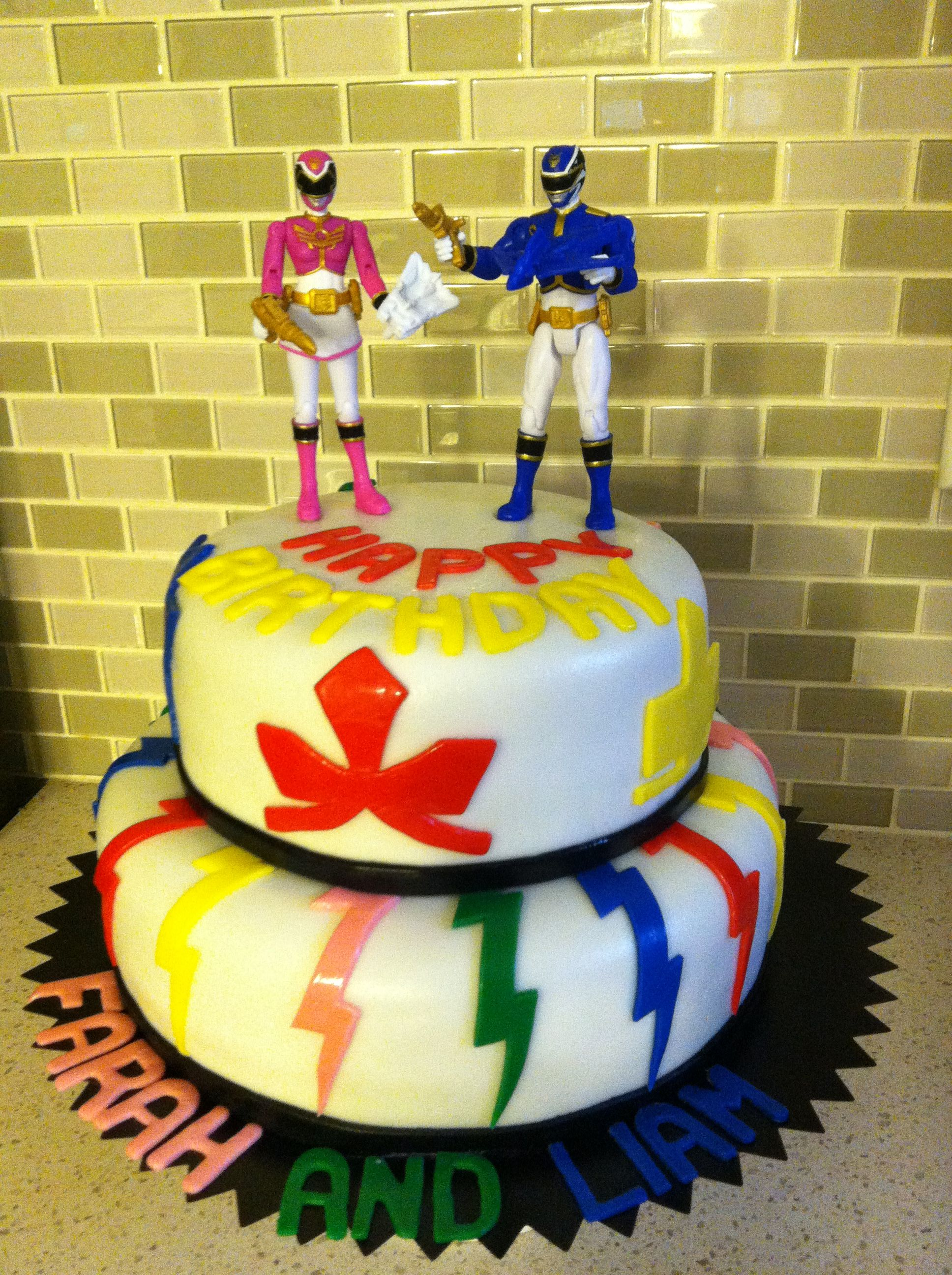 Power Rangers Samurai Two Tiered Birthday Cake Order This Facebook Epiccakenyc
