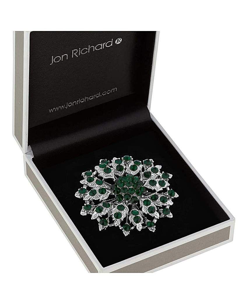 eeccb6e28d8 Jon Richard Crystal Flower Brooch | Products | Crystal flower ...