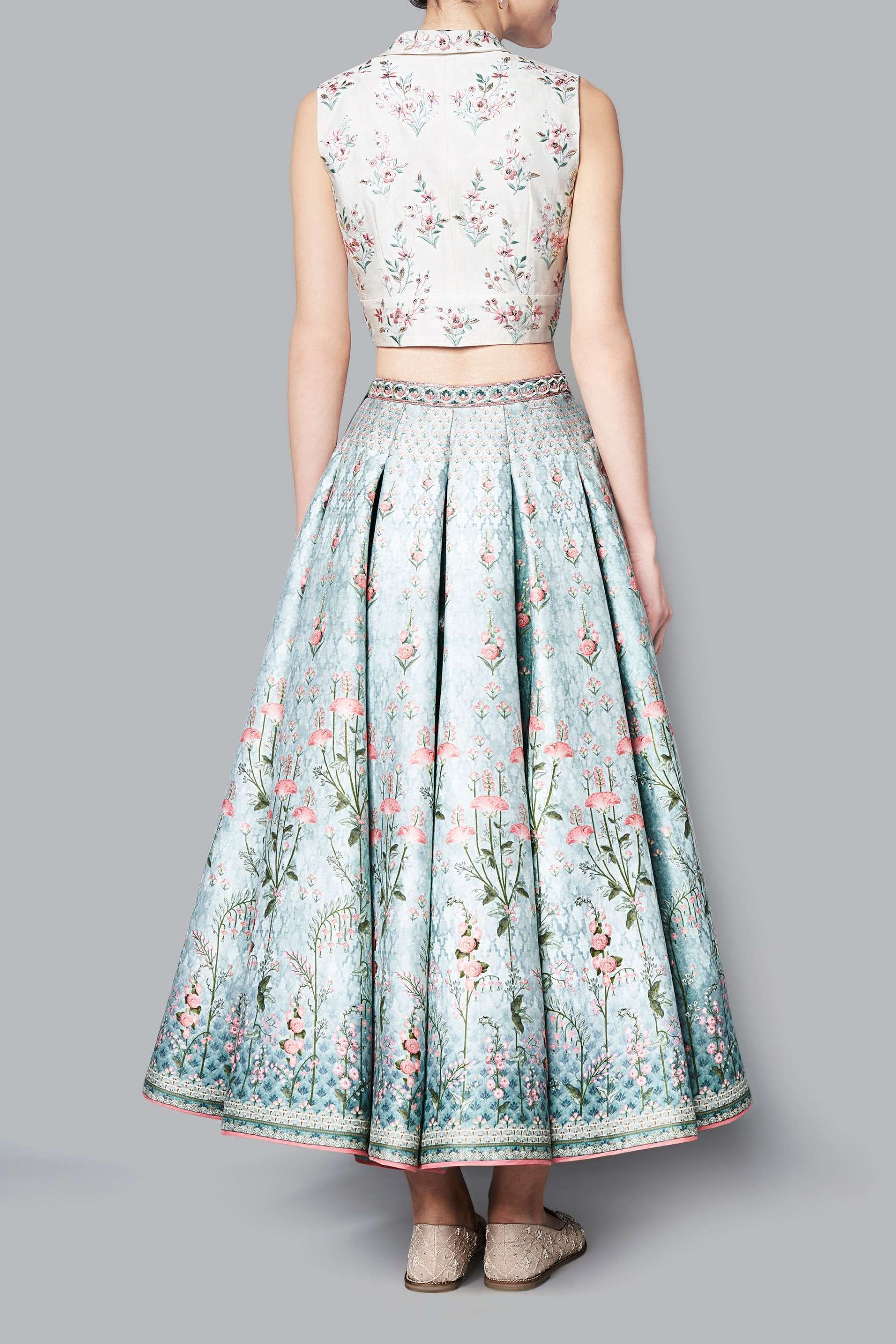 Aditri Crop Top And Skirt Tops Skirts Woman Indian Skirt And Top Indian Bridal Dress Crop Top Outfits Indian