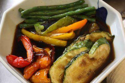 Agebitashi (Deep-fried Vegetables in Soy and Mirin Broth)