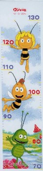 Toises bébé Vervaco maya l'abeille disney à broder
