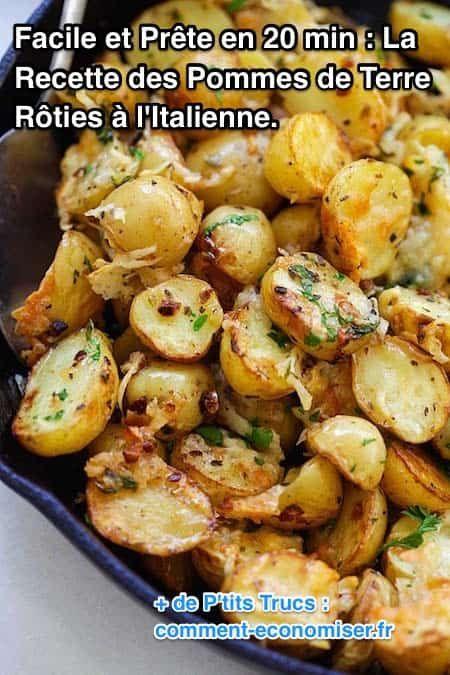 facile et pr te en 20 min la recette des pommes de terre r ties aux herbes recettes faciles. Black Bedroom Furniture Sets. Home Design Ideas