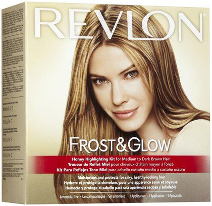 Revlon frost color needed to diy ombre for dark hair hair and diy ombre highlights revlon frost glow honey highlighting kit medium to dark brown hair 1 application pmusecretfo Image collections