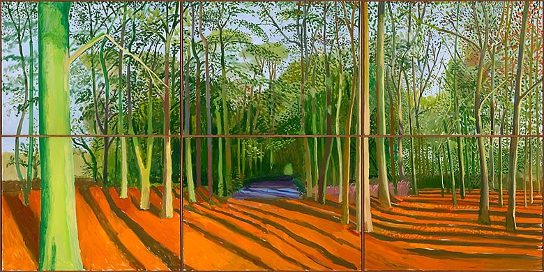 David Hockney - Woldgate Woods. I saw at the de Young and was absolutely enchanted.
