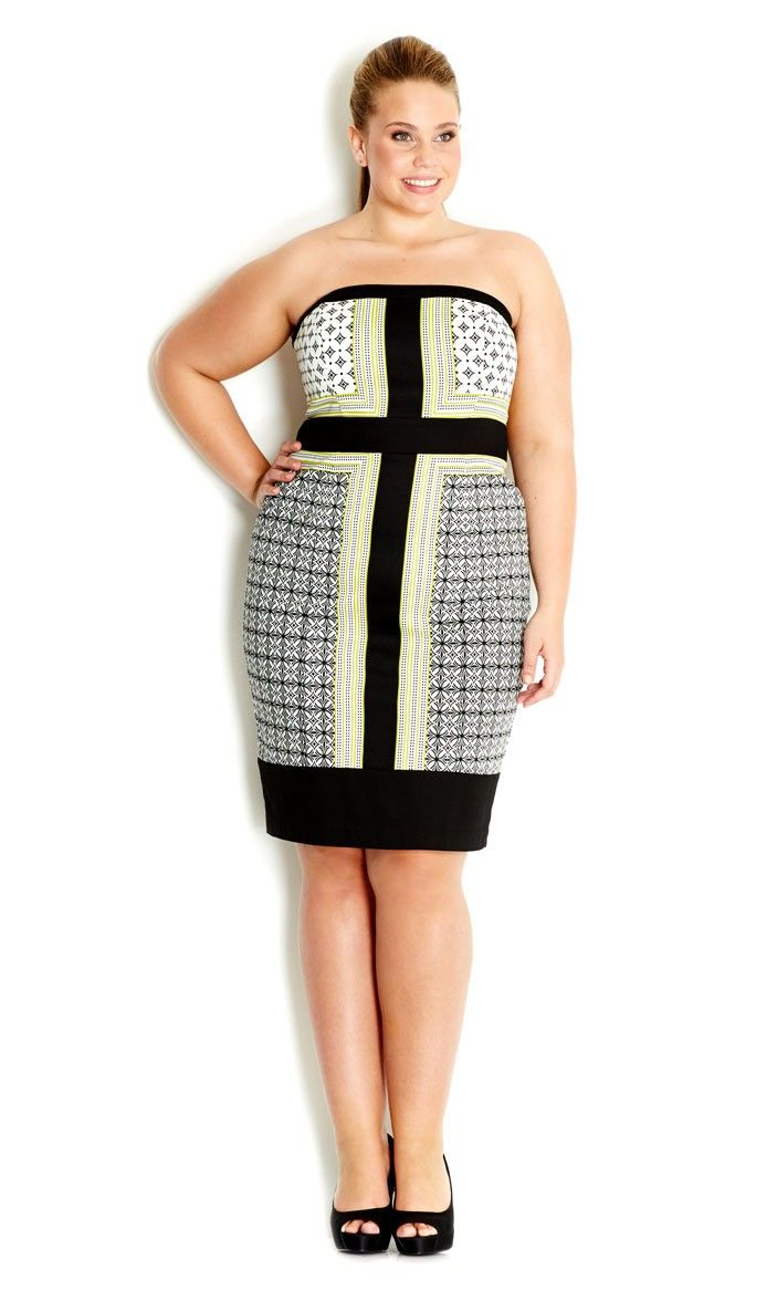 Gotta Have It: This Mod Babe Dress by City Chic   Strapless dress ...