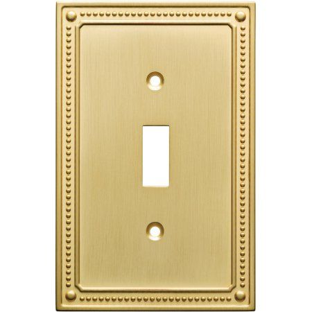 Franklin Br Clic Beaded Single Switch Wall Plate In
