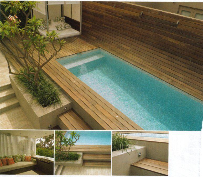 Small Backyard Lap Pool