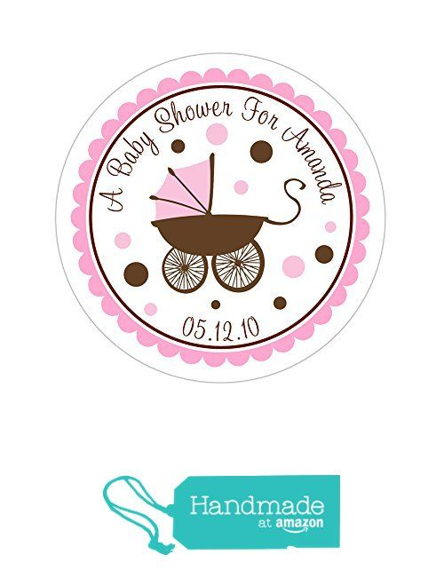 Personalized customized baby shower favor thank you stickers baby pram round labels choose