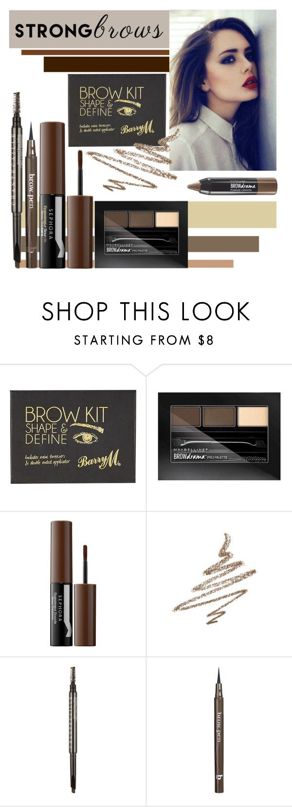 """Raise Your Brows"" by lauren-intan ❤ liked on Polyvore featuring beauty, River Island, Maybelline, Sephora Collection, Anastasia Beverly Hills, Chantecaille, BBrowBar, BeautyTrend, strongbrows and boldeyebrows"