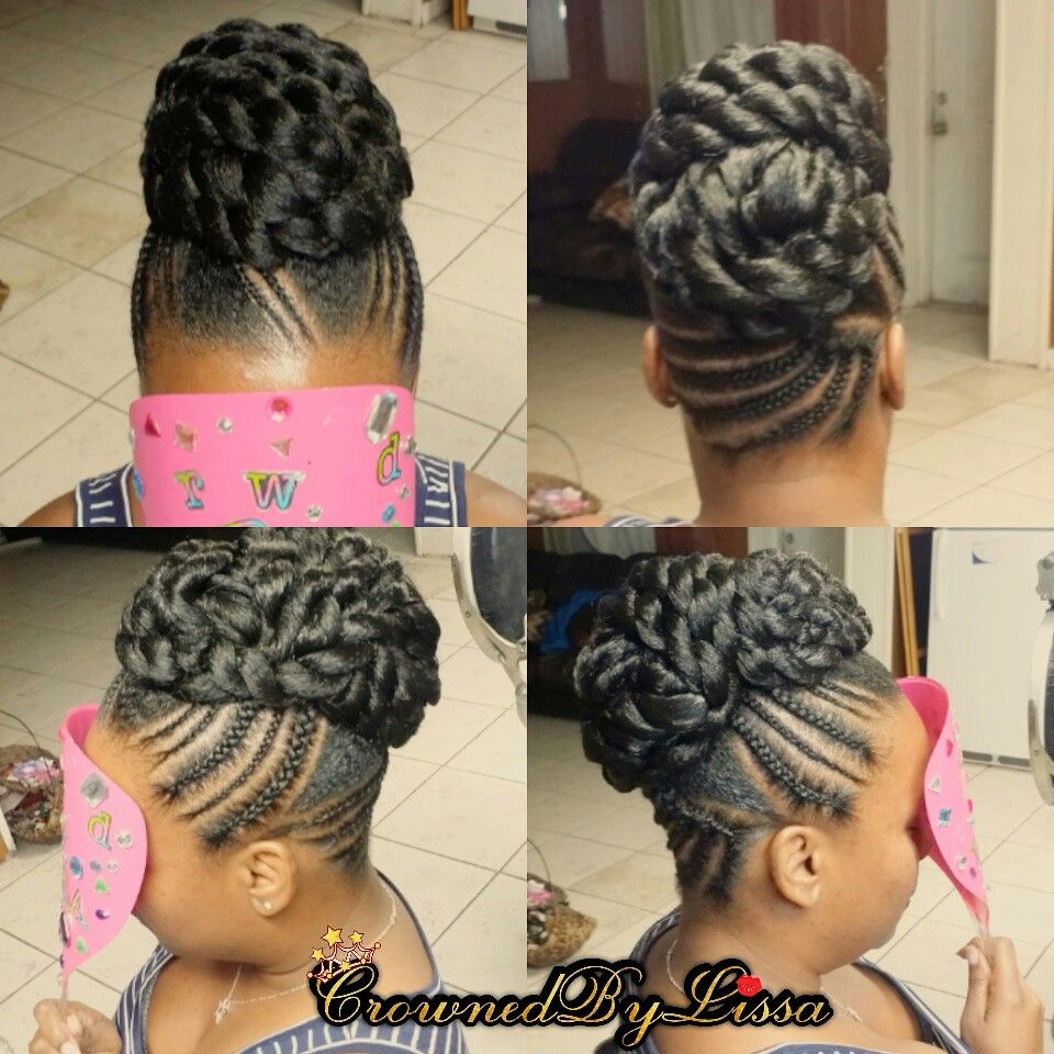 Quick Braid Updo Braided Hairstyles Updo Hair Styles Natural Hair Styles