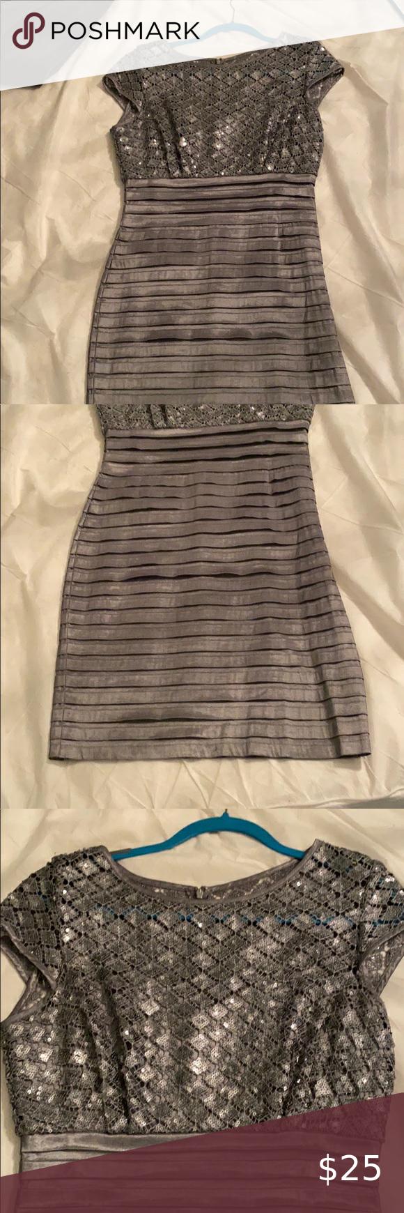 Sparkly Silver Dress Knee Length Knee Length Dresses Silver Dress Von Maur Dresses [ 1740 x 580 Pixel ]