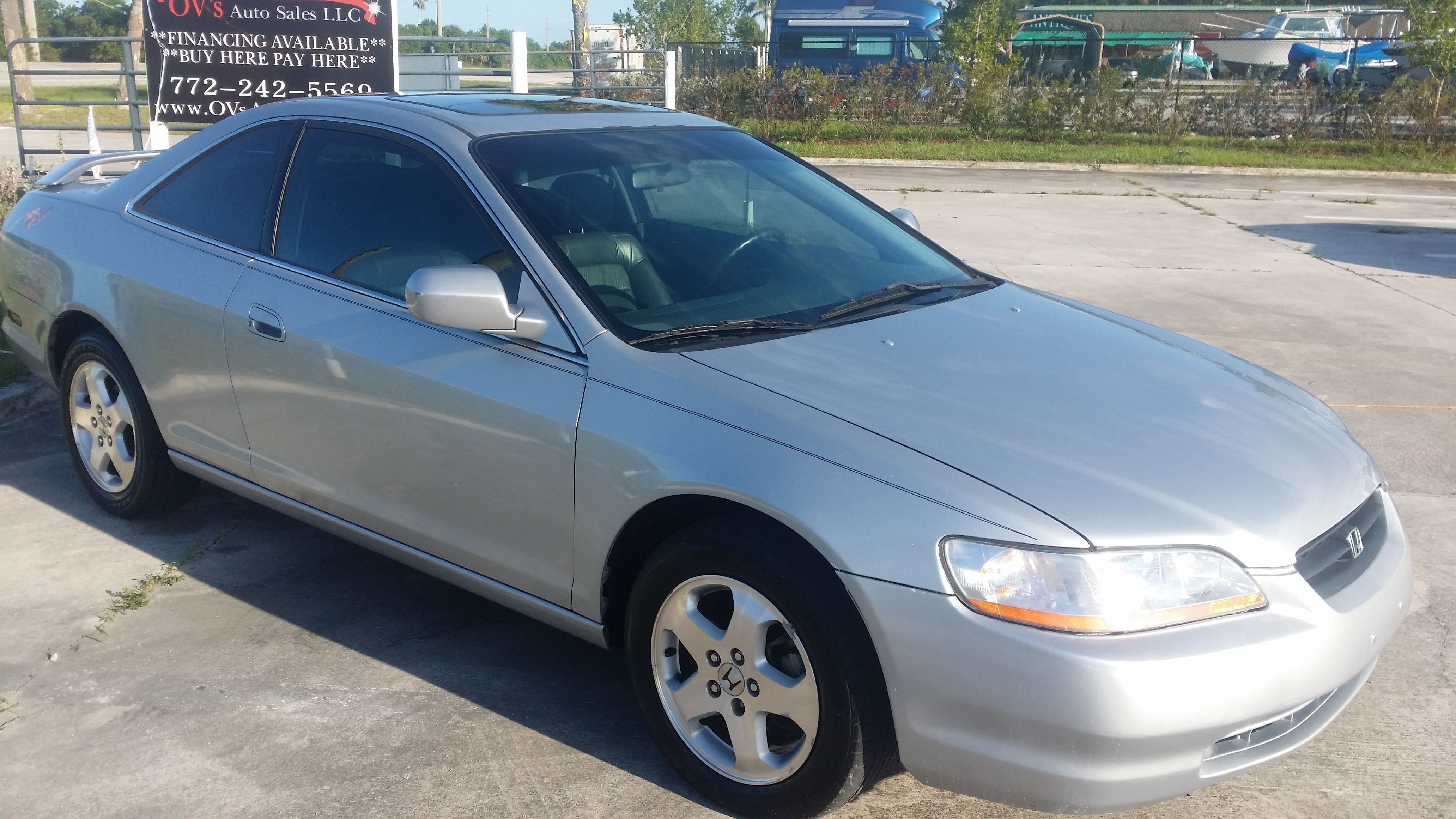Sold 2000 Honda Accord Ex Mileage 82193 Body Style Coupe Exterior Color Silver Interior Black Fuel Economy City 18 Hwy 25 Comb 21 Mpg Engine