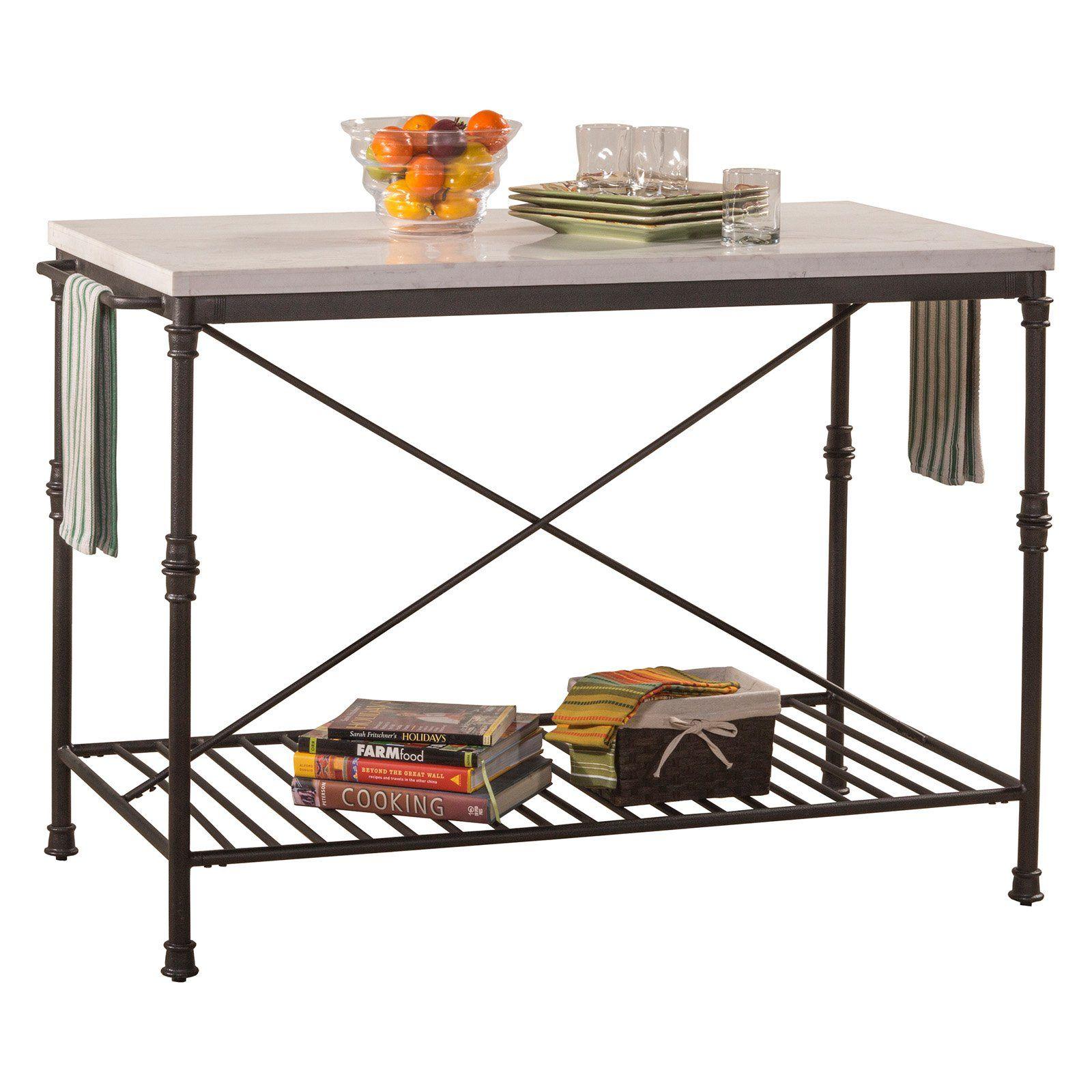 Hillsdale Furniture Castille Metal Kitchen Island  5976 880
