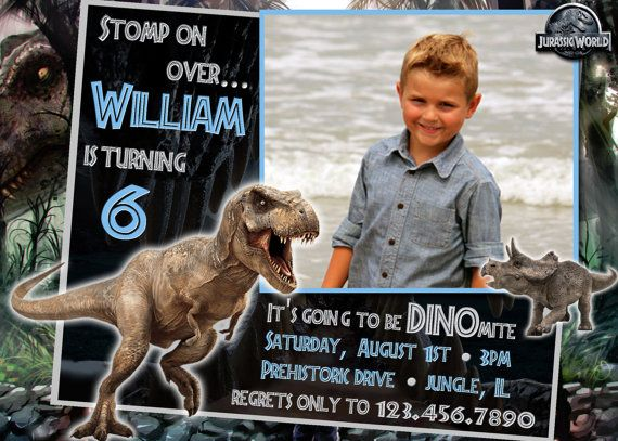 Jurassic World Birthday Invitations - Printed w/ Envelopes OR Printable Digital File