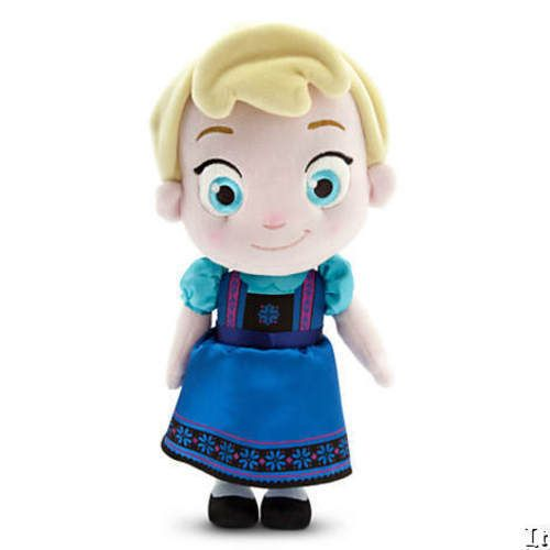 "Disney Store Authentic Toddler Elsa Soft Plush Doll Small 12"" H Frozen NWT #Disney"