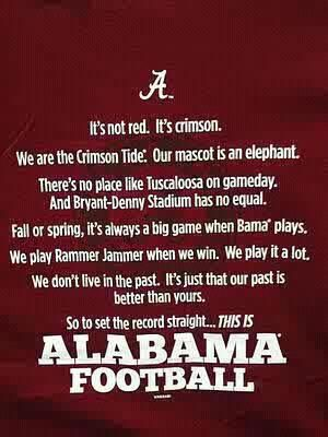 We roll with the Crimson Tide!
