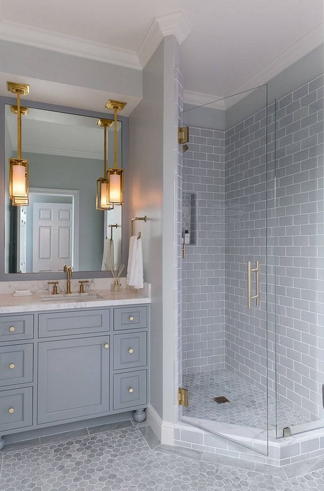 Beautiful White Marble Subway Tile Bathroom