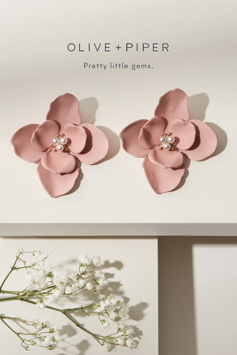 Behold perfection  These stunning gardenia inspired floral earrings will be stealing the show  Wear with caution for immediate compliments  is part of Designer earrings -