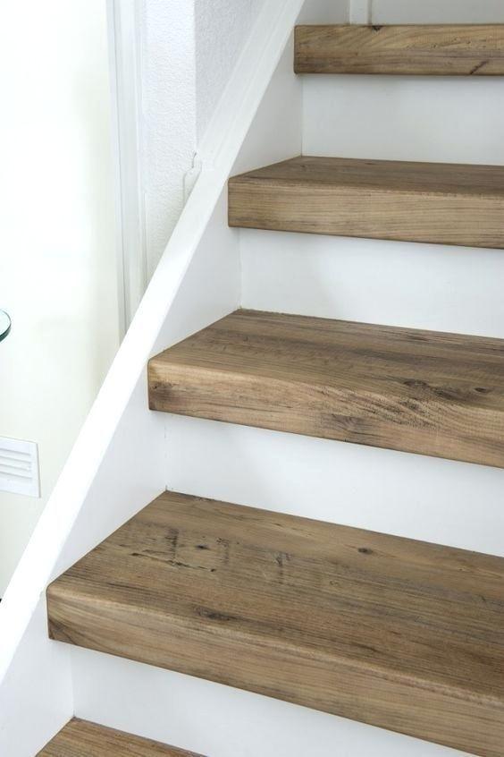 Best Thick Stair Treads Custom Size Mahogany Diy 400 x 300