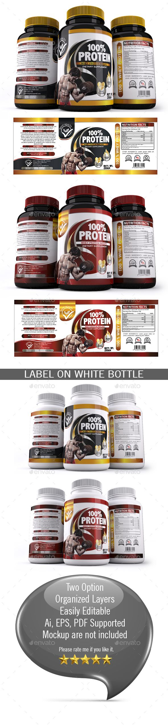 Supplement Label Template    Label Templates Ai Illustrator