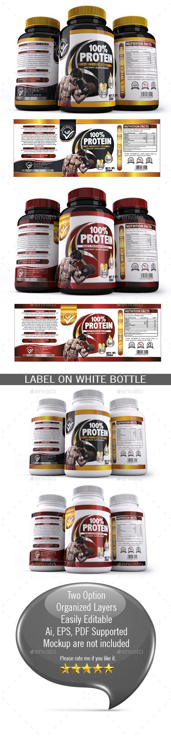 Supplement Label Template - 016 | Label templates, Ai illustrator ...