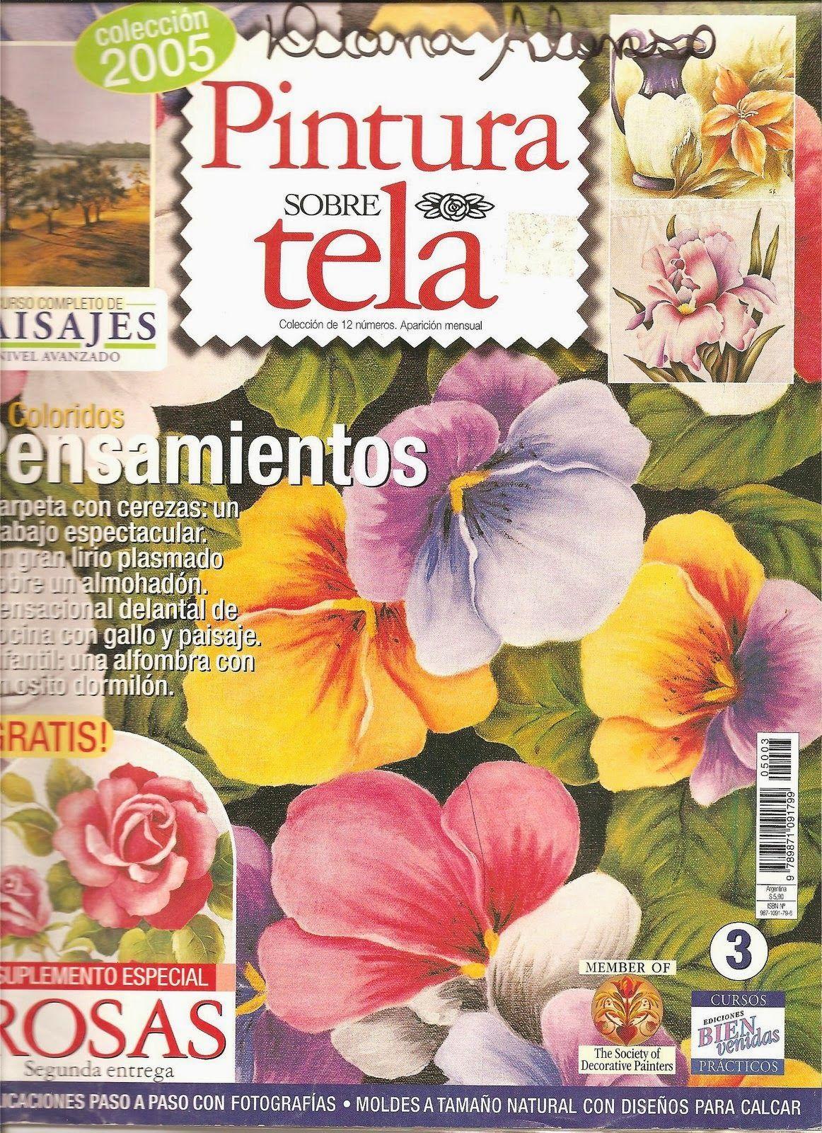 Como pintar sobre tela paso a paso revistas de manualidades gratis magazine pinterest - Como pintar sobre tela ...