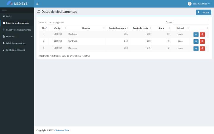 Sistema web de inventario de medicamentos con PHP y MySQL ...