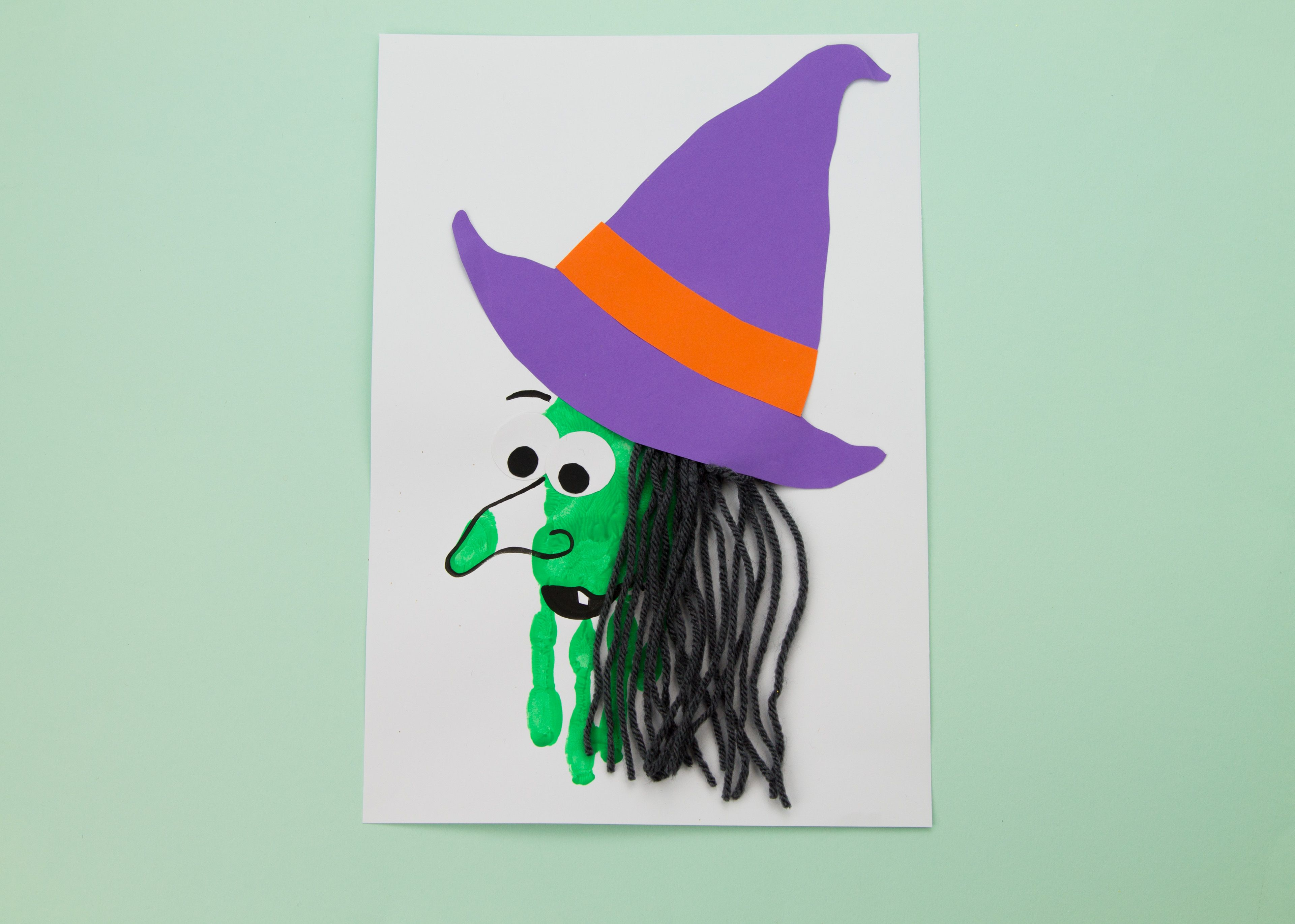 Transform a hand print in to a witch just like magic