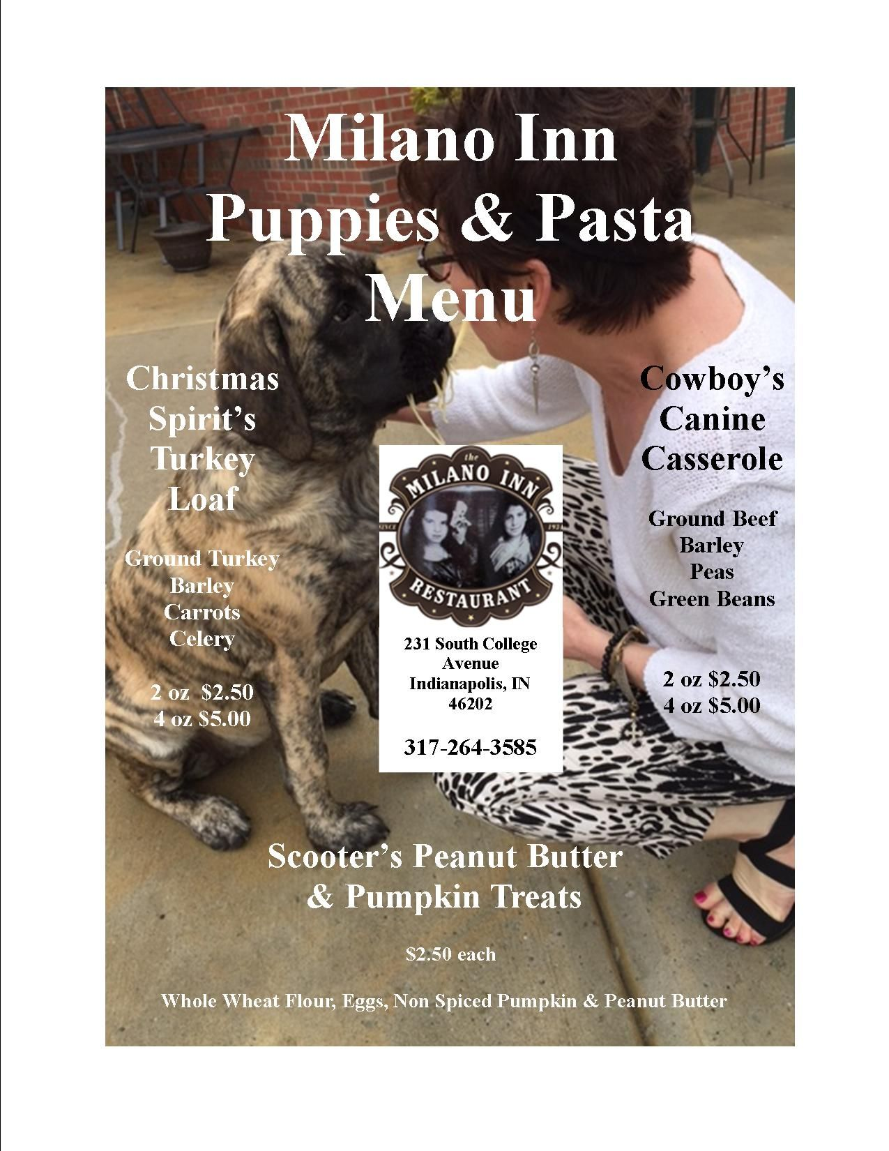 Ruht Roh The Pups Now Have Their Own Menu And Facebook Page Be Sure To Click The Following Link And Li Peanut Butter Pumpkin Turkey Casserole Pasta Menu