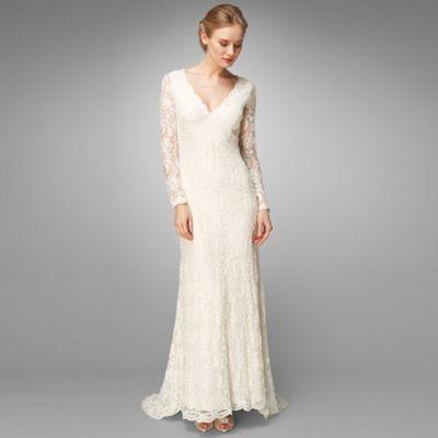 Ivory Evelyn Lace Beaded Wedding Dress At Debenhams Com Robe De Mariee Mariage Robe Dentelle Costume Mariage