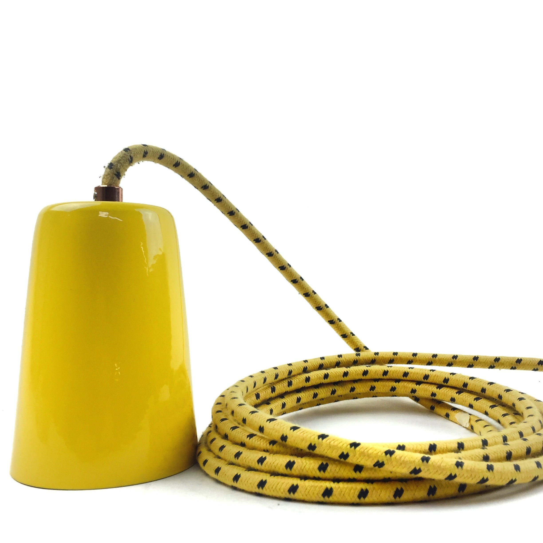 New Fremont Spun Stainless Steel Pendant Light Sunflower Yellow