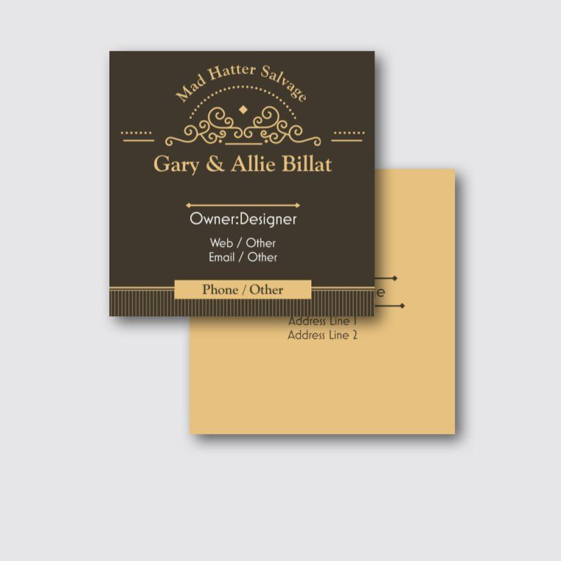Affordable Square business cards, Custom Square business cards Page ...