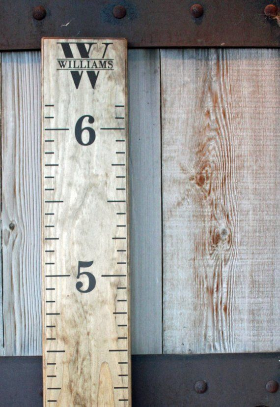 35 Off Sale Diy Growth Chart Ruler Vinyl Decal Kit Double Sided