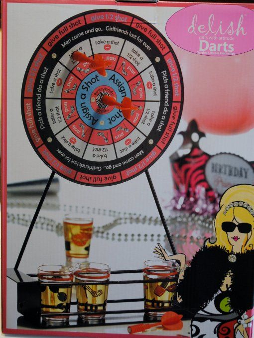 Delish Darts Drinking Game! Perfect for those adult holiday parties