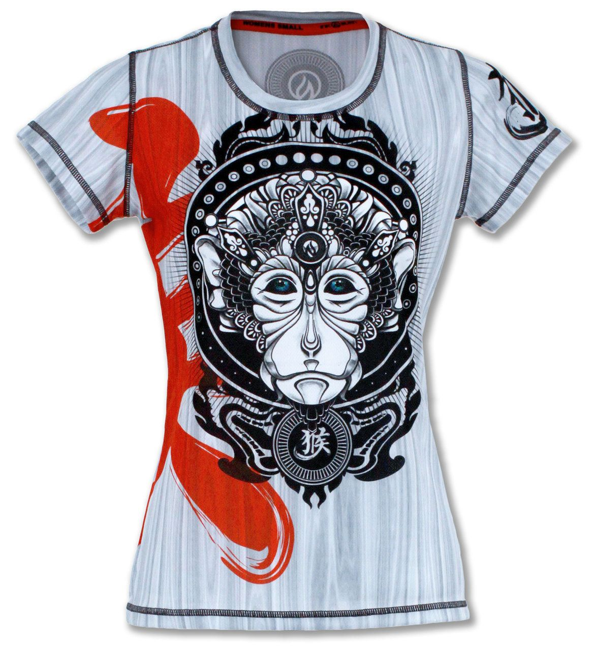 Women S Monkey Tech Shirt Tech Shirt Crossfit Clothes Running