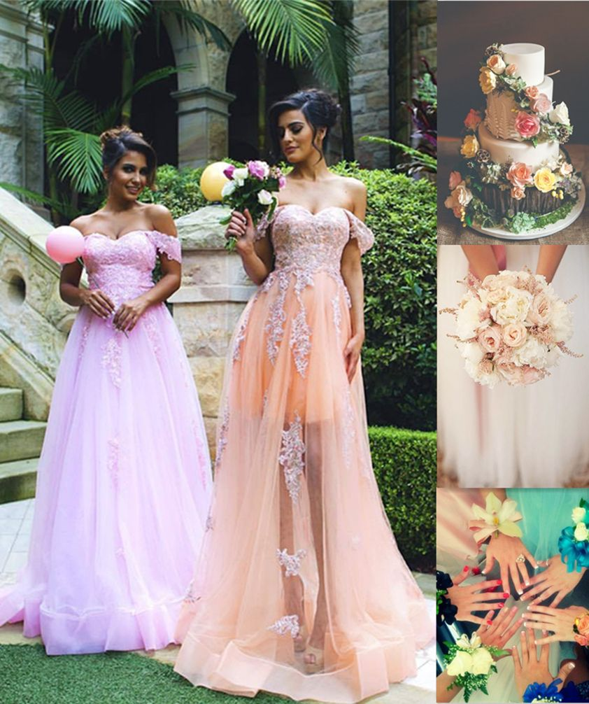 Trendy off shoulder maroom long prom dress with appliques from