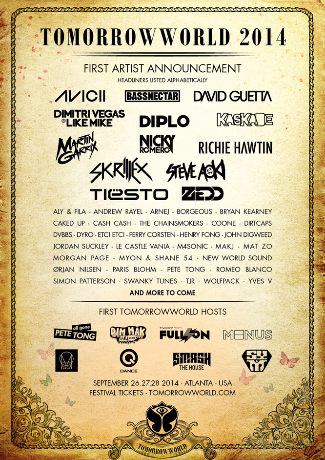 TomorrowWorld 2014 First Artist Announcement~ #TomorrowWorld