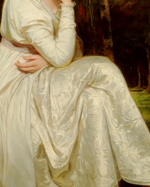 Lady Elizabeth Stanley (1753–1797), Countess of Derby (detail) by George Romney.