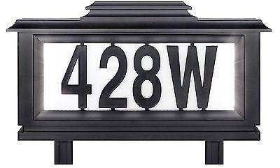 Lovely solar Lit Address Sign