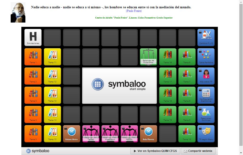 Webmix De Química Del Paulo Freire Para Cfgs En Symbaloo