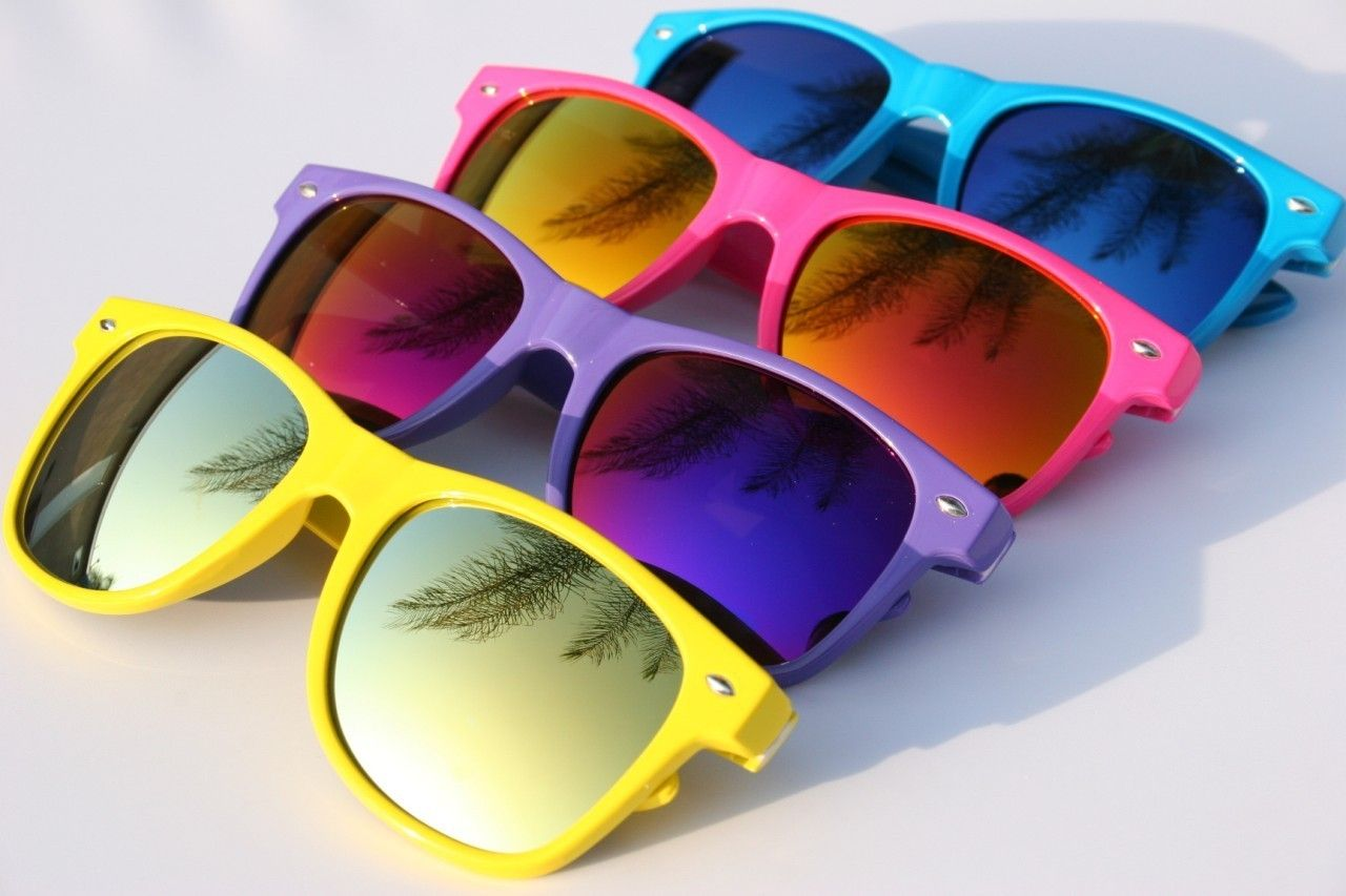 Neon Colored Wayfarer Sunglasses ☻ …   ๑෴๑˚Ṋэ͎̇θ₦˚❇₡я͙́ᗛẕ∄๑෴๑ ... b35f9b7ed19