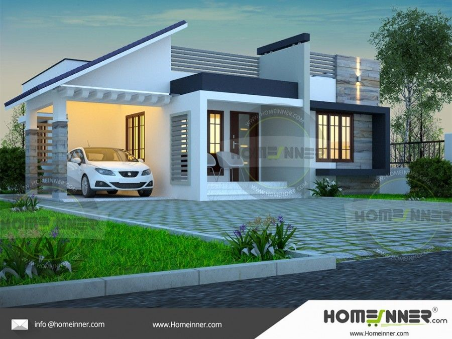 Single Story Simple House Elevation In 2019 Free House Plans Home