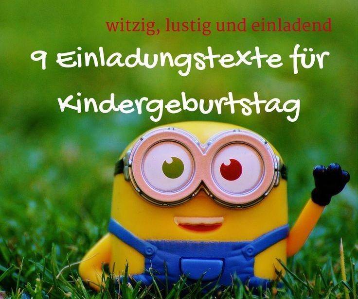 9 Einladungstexte Für #Kindergeburtstag, Witzig, Lustig Und Einladend ·  Einladungstext KindergeburtstagEinladung KindergeburtstagMädchen  GeburtstagKinder ...