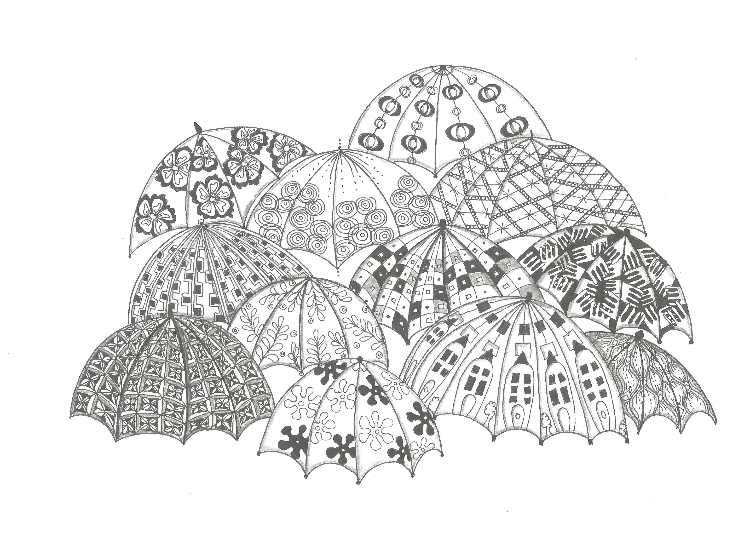 Zentangle Patterned Umbrella With Images