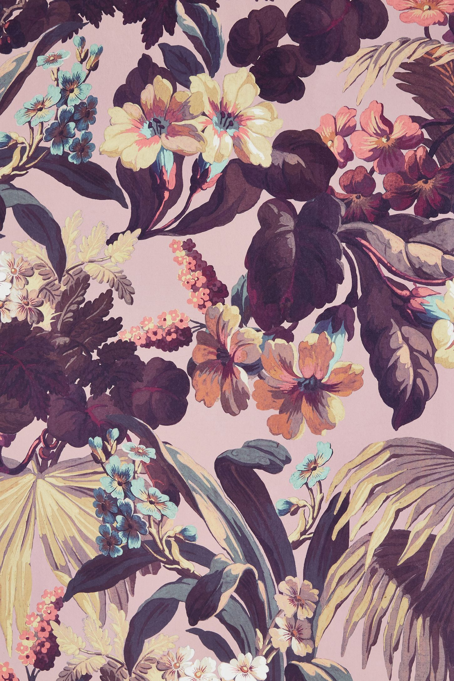 Limerence Wallpaper Anthropologie in 2020 Floral print