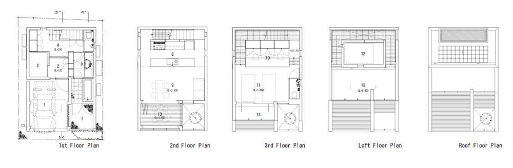 plans 31 Maximizing Space Through Original Layout: IS House in Japan