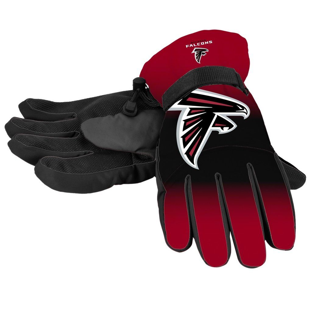 Atlanta Falcons Gloves Insulated Gradient Big Logo Size Large X Large Atlanta Falcons Gloves Atlanta