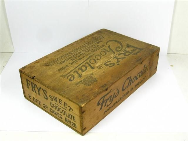 Old Shop Stuff Old Wooden Advertising Display Box Frys Sweet